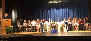 MRMS inducts National Junior Honor Society members