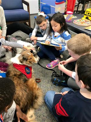 HES students participate in the K9 Book Buddy program