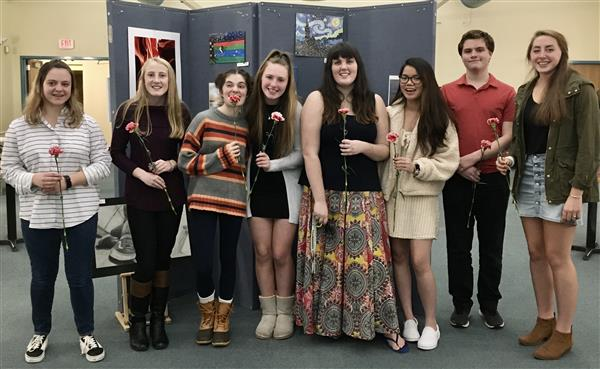 MRHS National Art Honor Society inductees 2019