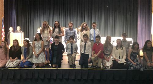 Monomoy Regional Middle School 2017-2018 National Junior Honor Society inductees